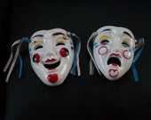 Pristine Vintage Collectible Comedy/Drama THEATER MASKS