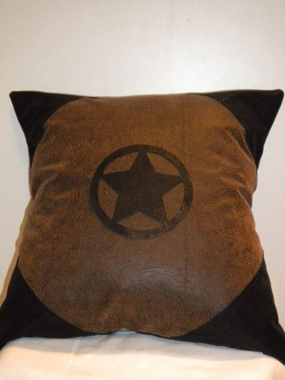 texas star western pillow cover 16 x 16. Black Bedroom Furniture Sets. Home Design Ideas