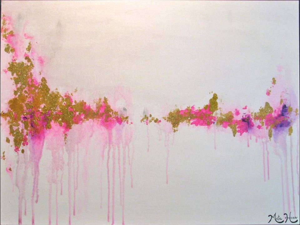 EXTRA LARGE Original Abstract Painting Pink Fuchsia Purple