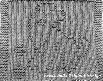 Knitting Cloth Pattern - PLAYFUL PUP -  PDF