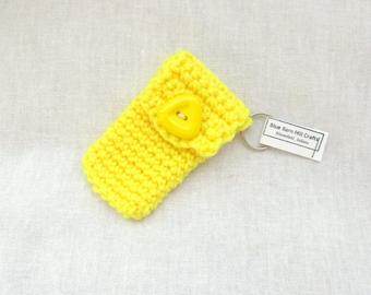 Clearance - Sunshine Yellow Keychain Pouch - keyring money holder - Item 1023