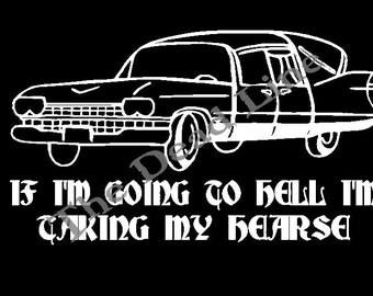 Hearse shirt, hell, hearse,death,goth,halloween,