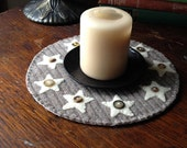 Country Stars Candle Mat