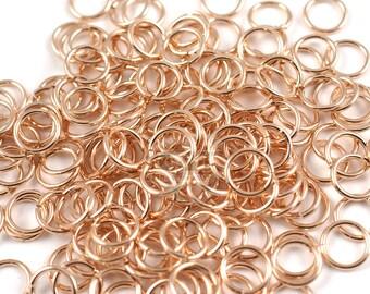 BULK 500 Jump Rings 6MM High Quality Rose Gold Plated - J039