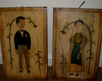 Little Boy and Little Girl Wall Hanging.