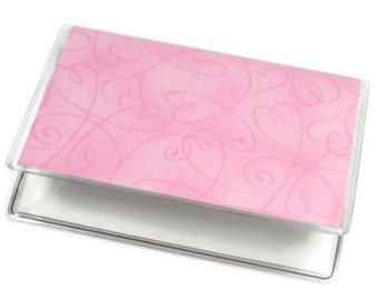 Card Case Mini Wallet Swirl Pink