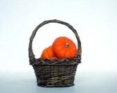 SALE Vintage Rustic Petite Woven Basket