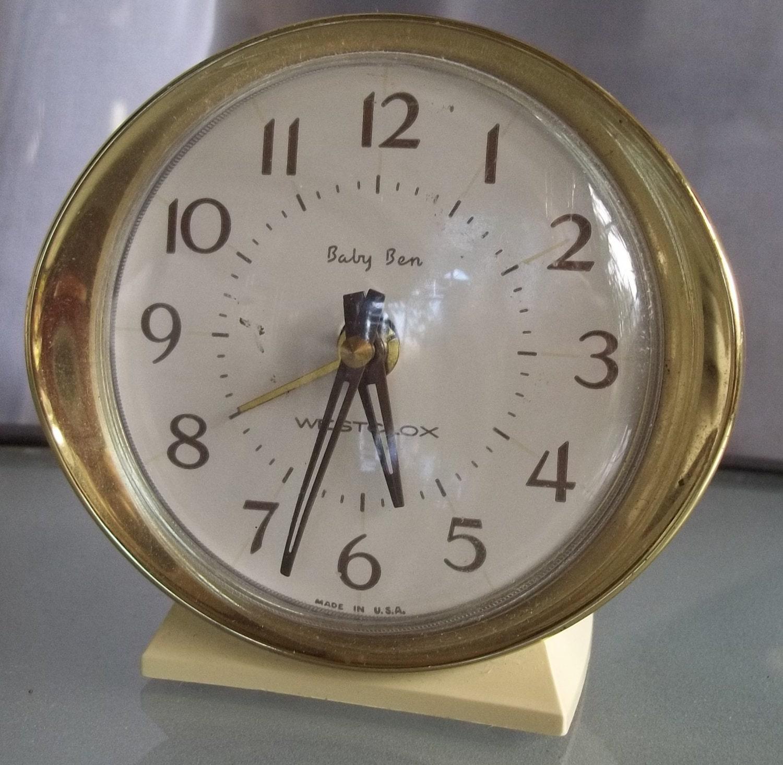 Vintage Baby Ben Westclox Alarm Clock