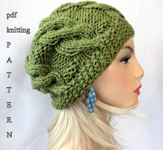 Slouch Hat Knitting Pattern Circular Needles : Knitting Hat Pattern Knit slouch beanie pattern Knit