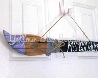 Teacher Paintbrush Sign - Customizable