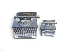 Wooden Typewriter Brooch Large Or Small