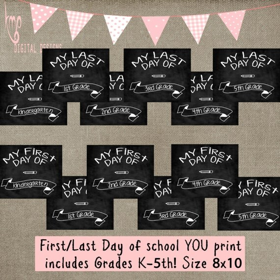 first and last day of school chalk template prop back to. Black Bedroom Furniture Sets. Home Design Ideas