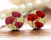 16mm Round Handmade Photo Wood Cut Cabochon to make Rings, Earrings, Bobby pin,Necklaces, Bracelets-(WE-46)
