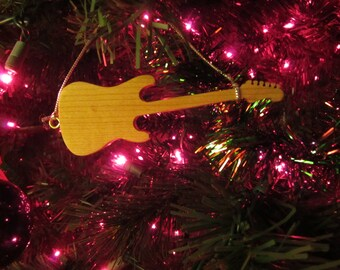 Guitar Ornament - Stratocaster in Solid Maple