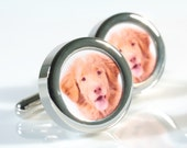 Personalized Pet Cufflinks for Pet Lovers - Weddings, Birthdays, Remembrance