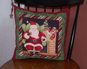 Christmas Pillow, Santa is Coming to Town, Holiday Decor
