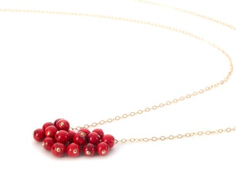 Red Pomegranate   necklace