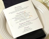 Scroll Dinner Menu, Wedding Menu, Elegant Wedding Menu, DEPOSIT