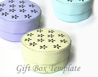 Printable Round Circular Jewelry Gift Box