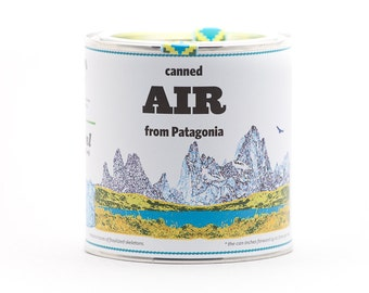 Original Canned Air from Patagonia, a gag souvenir, gift, memorabilia