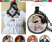 FREESHIPPING Metal MAGNETIC INTERCHANGEABLE Necklace Set and Cameos Labyrinth 2.1-5