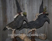 Primitive Handmade Large Crow Make Do