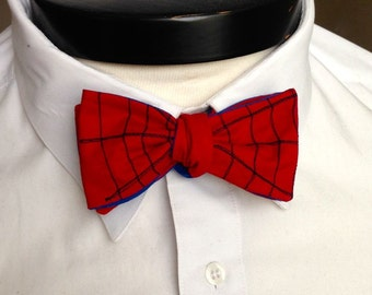 The Lee - Our Marvel Inspired bowtie in Spider Man colors