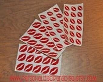 Vinyl Lip Decals | Valentine's Day