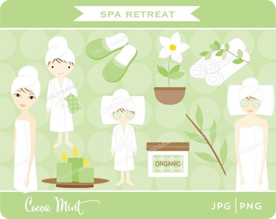 Items similar to spa retreat clip art on etsy