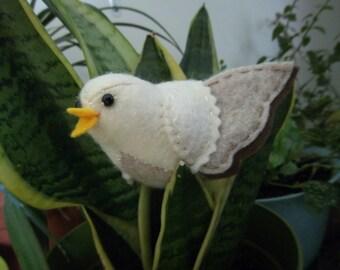 Felt Plush Stuffed Animal/ Pin Cushion- Cream & Oatmeal