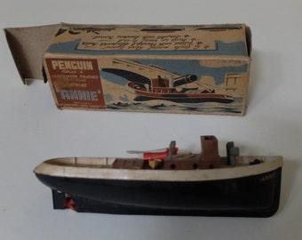 "Vintage Penguin series ""Annie"" Scale Model TugBoat"