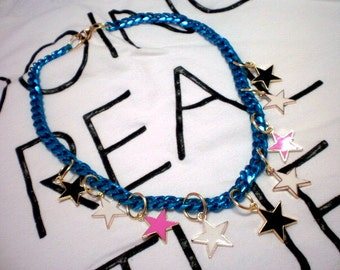 In fashion star charm necklace / ready to ship