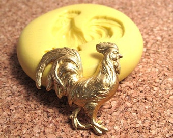 Rooster - Flexible Silicone Mold - Jewelry Mold, Polymer Clay Mold, Resin Mold, Craft Mold, PMC Mold