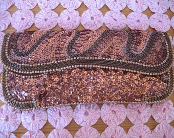 Vintage Jill Empress Beaded Handbag, Beads & Sequins Clutch