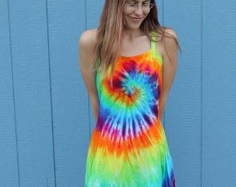 Tie dye Rayon Strappy Dress