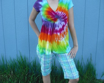 Tie Dye tank top - upcycled