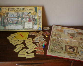 The Pinocchio Game - A Great Cadaco Game No. 775 - Rare Complete Set - 1980s Vintage Board Game - Retro Family Nights