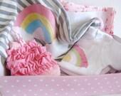 New Baby Gift Set, Baby Girl 4pc Gift Set- Rainbow