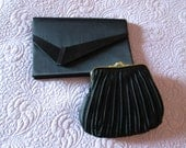 Two Black Evening bags small with chains Free shipping!