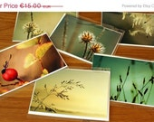 20% OFF 6 Greeting cards folded 5x7 with Nature Photography