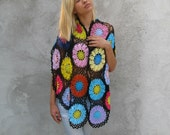 Women Accessories Colorful Crochet shawl