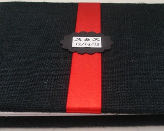 Black Wedding Guest Book - Rustic Guest Book Alternative - Unique Wedding Guestbook (Custom Colors Available)