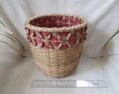Round Storage Basket with Wine Curls ( free shipping USA)