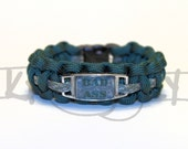 Custom Bad A** Charm on Paracord Bracelet with Plastic Side Release Buckle