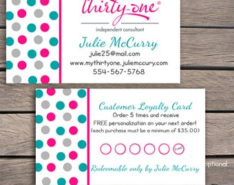 Thirty One Business Card - Printable - Digital