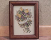 Yellow Roses Cross Stitch Framed