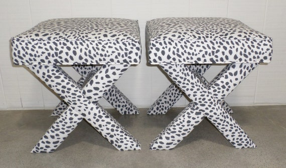 X Benches - Custom Built and Upholstered In Any Fabric
