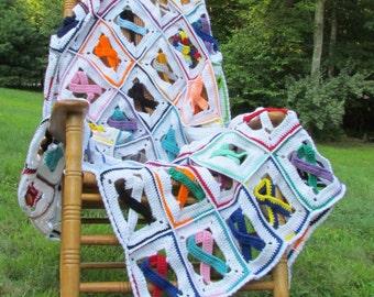 Awareness Ribbon Crochet Afghan pdf 154