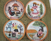 Collectible Italian Kitchen Decor Hanging Plates