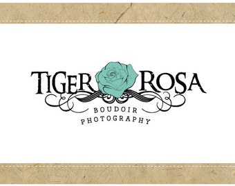 SALE Custom Logo Design - PreDesigned  PreMade Logo - Vector Logo Design -TIGER ROSA Logo Design - Tattoo  Logo - Rose Logo Design